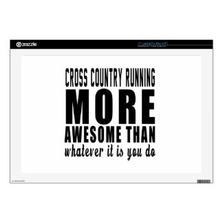 Cross Country Running more awesome than whatever i Laptop Decals