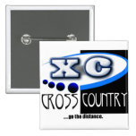 CROSS COUNTRY RUNNING MOTTO - GO THE DISTANCE XC BUTTON