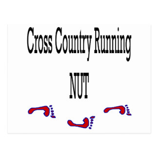 Cross Country Running Nut Post Cards