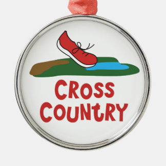 Cross Country Running Christmas Ornament