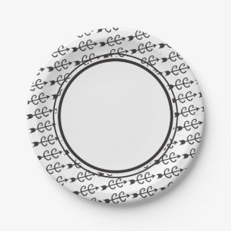 Cross Country Running Paper Plate
