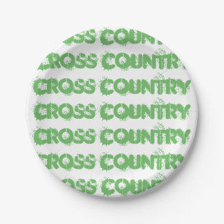 Cross Country Running Paper Plates Party Supplies