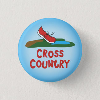 Cross Country Running © Pinback Button