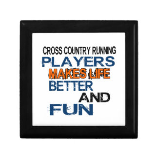 Cross Country Running Players Makes Life Better An Gift Box