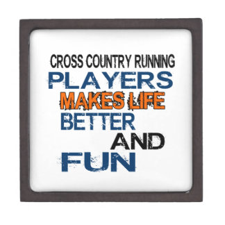 Cross Country Running Players Makes Life Better An Premium Keepsake Boxes