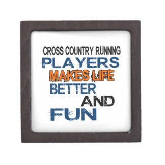 Cross Country Running Players Makes Life Better An Premium Trinket Box