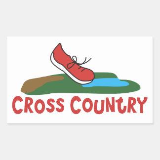 Cross Country Running Rectangular Sticker