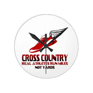 Cross Country Running Round Clock