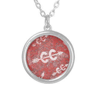 Cross Country Running Silver Plated Necklace