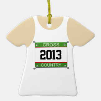 Cross Country Singlet Customizable Ornament