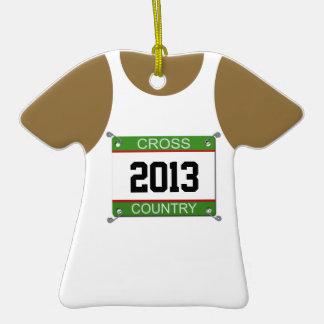 Cross Country Singlet Customizable Ornament