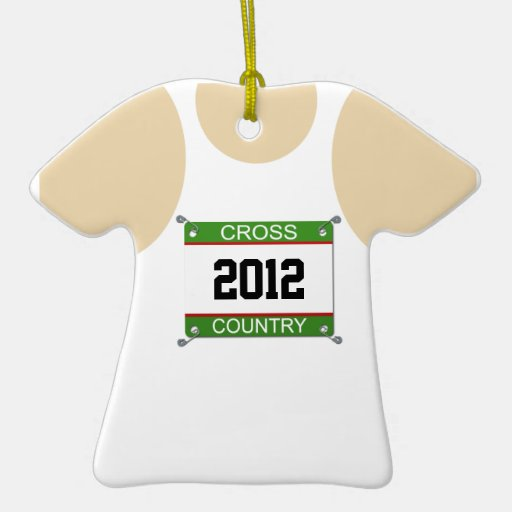 Cross Country Singlet Ornament - Customizable Year
