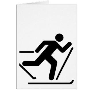 Cross Country Ski Symbol Card