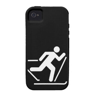 Cross Country Ski Symbol Vibe iPhone 4 Case