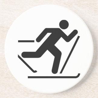 Cross Country Ski Symbol Coaster