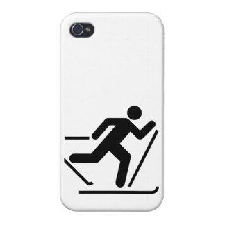 Cross Country Ski Symbol iPhone 4 Cases