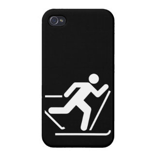 Cross Country Ski Symbol iPhone 4 Cover