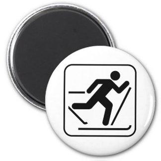 Cross Country Ski Symbol Magnet