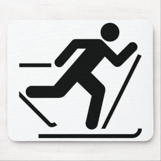 Cross Country Ski Symbol Mousepad
