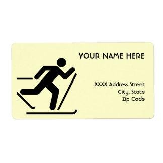 Cross Country Ski Symbol Shipping Label
