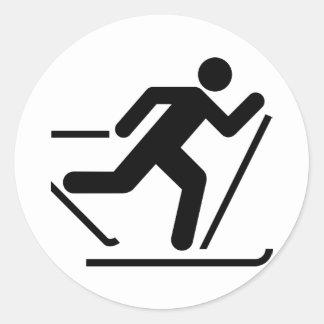 Cross Country Ski Symbol Sticker