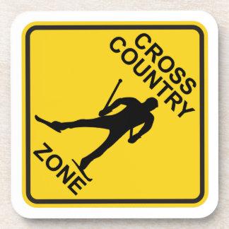 Cross Country Ski Zone Drink Coaster