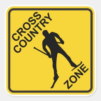 Cross Country Ski Zone Square Sticker