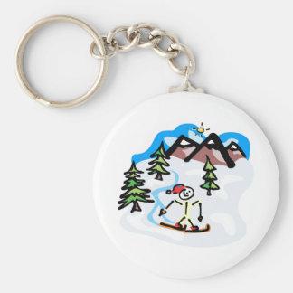 Cross Country Skier Keychain