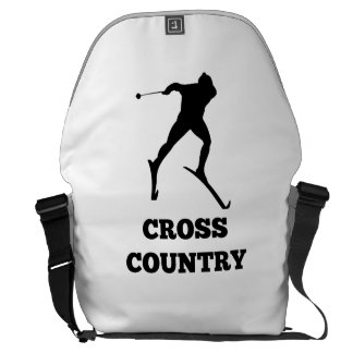 Cross Country Skier Messenger Bag