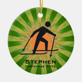 Cross-Country Skier Ornament