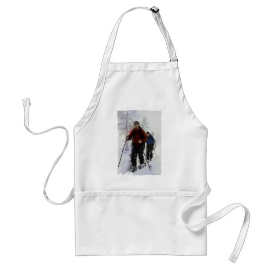 Cross Country Skiers Adult Apron