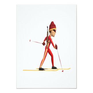 Cross Country Skiier 5x7 Paper Invitation Card