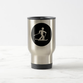 Cross Country Skiing 15 Oz Stainless Steel Travel Mug