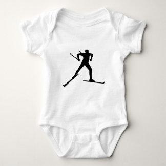 Cross country skiing baby bodysuit