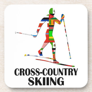 Cross-Country Skiing Beverage Coaster