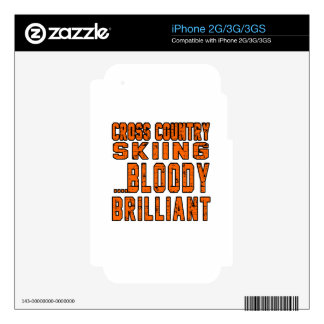 Cross Country Skiing Bloody Brilliant Skins For iPhone 3G