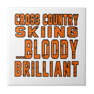 Cross Country Skiing Bloody Brilliant Small Square Tile