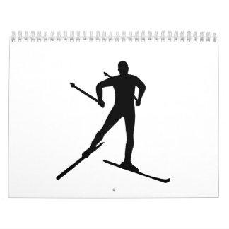 Cross country skiing wall calendars