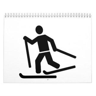Cross-country skiing wall calendar