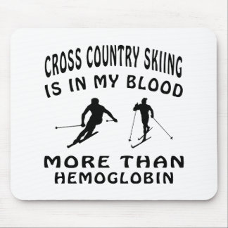 Cross Country Skiing designs Mouse Pad