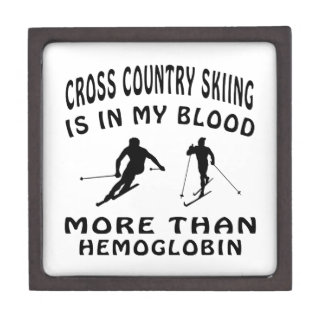 Cross Country Skiing designs Premium Gift Boxes