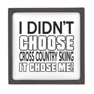 CROSS COUNTRY SKIING DESIGNS PREMIUM JEWELRY BOXES