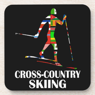 Cross-Country Skiing Drink Coaster