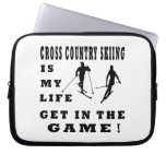Cross Country Skiing Is My Life Computer Sleeves