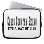 Cross Country Skiing It's way of life Laptop Computer Sleeve