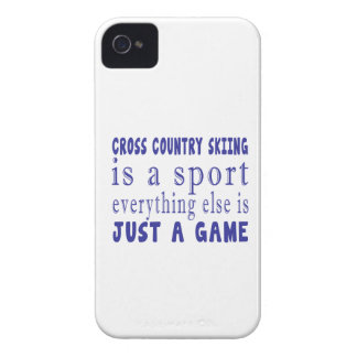 CROSS COUNTRY SKIING JUST A GAME Case-Mate iPhone 4 CASE