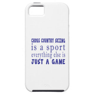 CROSS COUNTRY SKIING JUST A GAME iPhone SE/5/5s CASE