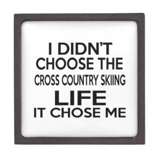CROSS COUNTRY SKIING LIFE DESIGNS PREMIUM TRINKET BOX