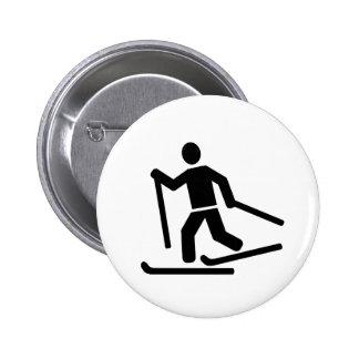 Cross-country skiing pin