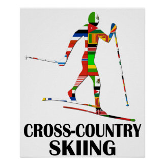Cross-Country Skiing Poster